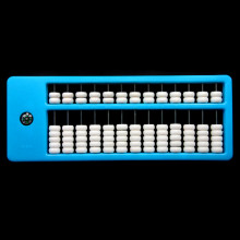 AB001-1 Счеты абакус (соробан) 13 рядов 26х10см, цвет голубой