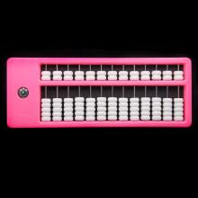 AB001-4 Счеты абакус (соробан) 13 рядов 26х10см, цвет розовый