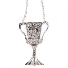 AC016-S Кулон с цепочкой Кубок 5х2х1,8см, цвет серебр.
