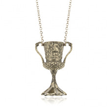 AC016-B Кулон Кубок на цепочке, цвет бронзовый