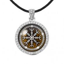 ALD304 Амулет Крест непобедимости, цвет серебро