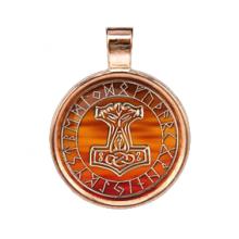 ALE253 Рунический амулет Молот Тора (Золотая коллекция)
