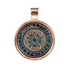 ALE255 Рунический амулет Кельтская Пентаграмма (Золотая коллекция)