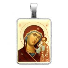 ALE307 Нательная иконка Пресвятая Богородица (Казанская)