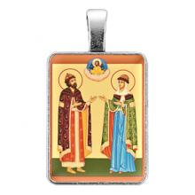 ALE308 Нательная иконка Благоверные князь Петр и княгиня Феврoния