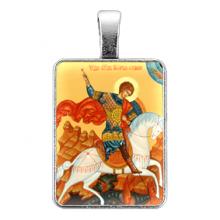 ALE323 Нательная иконка Святой Георгий Победоносец