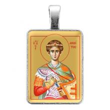 ALE329 Нательная иконка Святой великомученик Димитрий Солунский