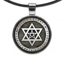 ALE486 Амулет Звезда Давида и пентаграмма
