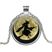 ALK101 Кулон с цепочкой Ведьма на метле
