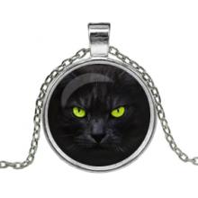 ALK103 Кулон с цепочкой Чёрный кот