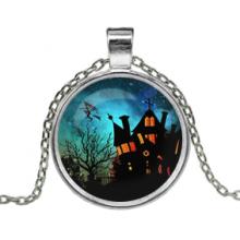 ALK135 Кулон с цепочкой Дом ведьмы