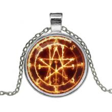 ALK150 Кулон с цепочкой Огненная пентаграмма