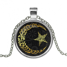 ALK209 Кулон с цепочкой Полумесяц и звезда