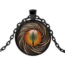 ALK424 Чёрный кулон с цепочкой Глаз дракона