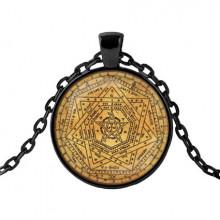 ALK429 Чёрный кулон с цепочкой Магическая печать