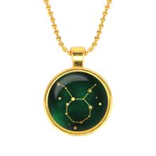 ALK502 Кулон с цепочкой Знаки Зодиака - Телец, цвет золот.