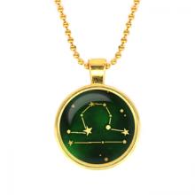 ALK507 Кулон с цепочкой Знаки Зодиака - Весы, цвет золот.