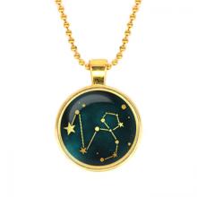 ALK510 Кулон с цепочкой Знаки Зодиака - Козерог, цвет золот.
