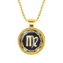 ALK542 Кулон с цепочкой Знаки Зодиака - Дева, цвет золот.