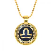 ALK543 Кулон с цепочкой Знаки Зодиака - Весы, цвет золот.