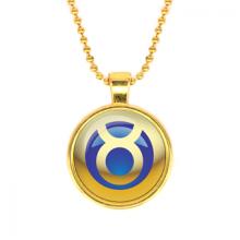 ALK550 Кулон с цепочкой Знаки Зодиака - Телец, цвет золот.