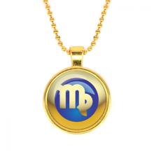 ALK554 Кулон с цепочкой Знаки Зодиака - Дева, цвет золот.
