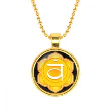 ALK562 Кулон с цепочкой Свадхистхана чакра, цвет золот.