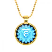 ALK565 Кулон с цепочкой Вишуддха чакра, цвет золот.