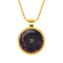 ALK574 Кулон с цепочкой Сахасрара чакра, цвет золот.