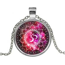 ALK610 Кулон с цепочкой Ом, цвет серебр.