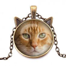 ALK719 Кулон с цепочкой Рыжий кот