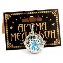 AM114-S Аромамедальон открывающийся Дерево жизни 28х28,5х24мм, цвет серебр.