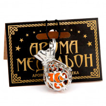 AM115-S Аромамедальон открывающийся Мешок 37х23мм, цвет серебр.