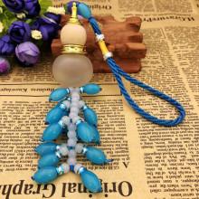 AR002-03 Подвеска - ароматизатор Тыква-горлянка 31см, цвет голубой