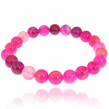 BJBS-187 Браслет из натурального камня Розовый агат, 8мм