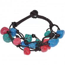BJBS-196-2 Плетёный браслет с цветной бирюзой