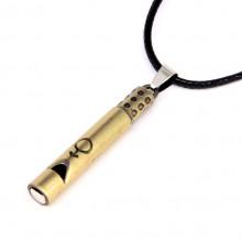 BJK082-1-M Кулон свисток 4,7см с символом Мужчина, цвет бронз.