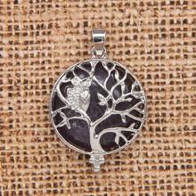 BJK083-01 Кулон Дерево d.2,7см с камнем Аметист