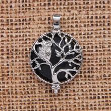 BJK083-07 Кулон Дерево d.2,7см с камнем Синий авантюрин