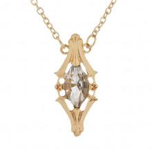 BJK115 Кулон с цепочкой Магический кристалл 4см, цвет золот.