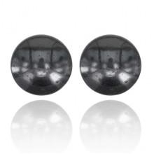BJM017 Магнитные серьги для похудения d.1см, гематит