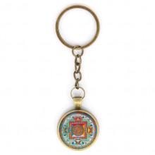BK-ALK034 Брелок Будда Медицины мандала, цвет бронз.