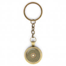 BK-ALK052 Брелок Будда мандала, цвет бронз.