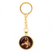 BK-ALK520 Брелок Знаки Зодиака - Скорпион, цвет золот.