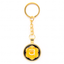 BK-ALK562 Брелок Свадхистхана чакра, цвет золот.