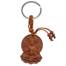 BK032-67 Брелок Будда из красного дерева