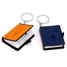 BK062 Брелок Библия большая 52х65х14мм, бумага, с текстом, в ассорт.