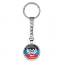 BKP025 Брелок Донецкая Народная Республика, металл, цвет серебр.
