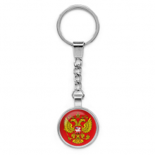 BKP026 Брелок Герб России, металл, цвет серебр.