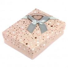 BOX003-5 Коробка для бижутерии с бантом 90х70х30мм, цвет серый